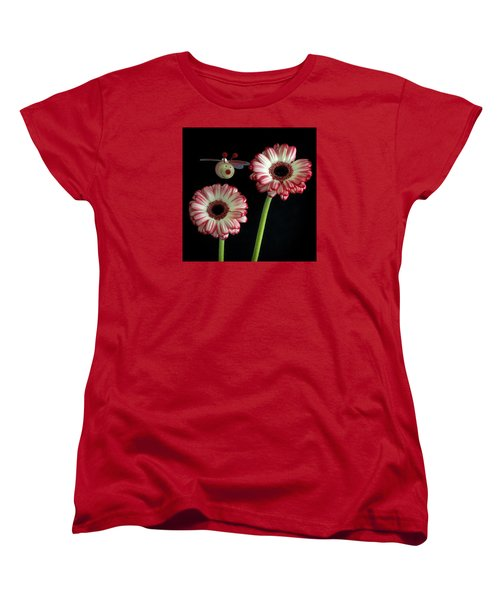 Women's T-Shirt (Standard Cut) featuring the photograph Bee Happy by Shirley Mitchell