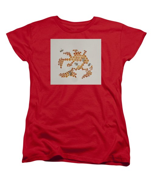 Women's T-Shirt (Standard Cut) featuring the painting Bee Hive # 4 by Katherine Young-Beck