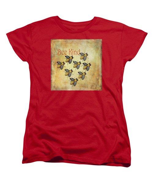 Bee Kind Women's T-Shirt (Standard Cut) by Kandy Hurley
