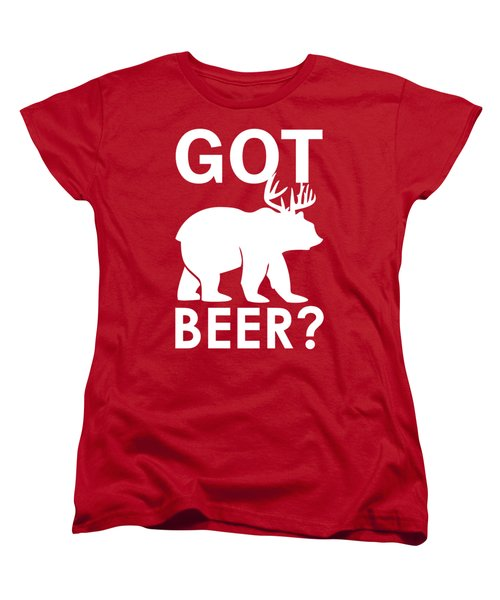 Beer? Women's T-Shirt (Standard Cut) by Otis Porritt