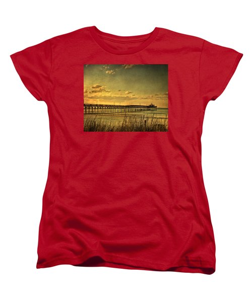 Behind Cherry Grove Pier  Women's T-Shirt (Standard Cut) by Trish Tritz
