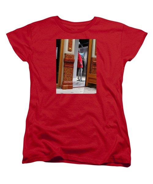 Behind Doors Women's T-Shirt (Standard Cut) by Anna Yurasovsky