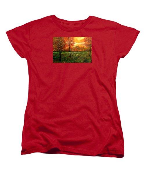 Being Thankful Women's T-Shirt (Standard Cut) by Lisa Aerts