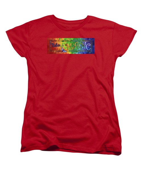 Believe In Magic Women's T-Shirt (Standard Cut) by Agata Lindquist