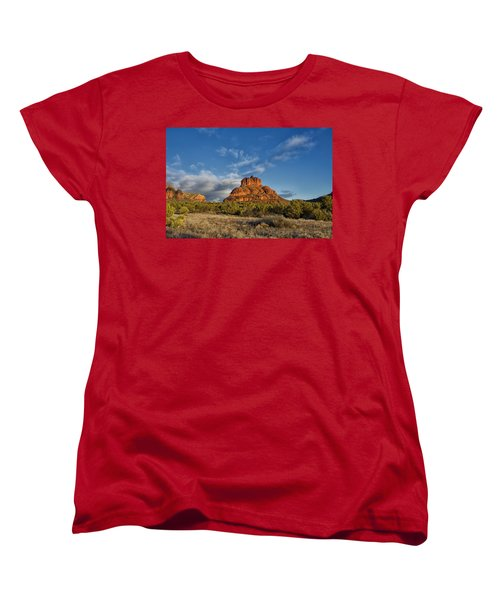 Women's T-Shirt (Standard Cut) featuring the photograph Bell Rock Beams by Tom Kelly