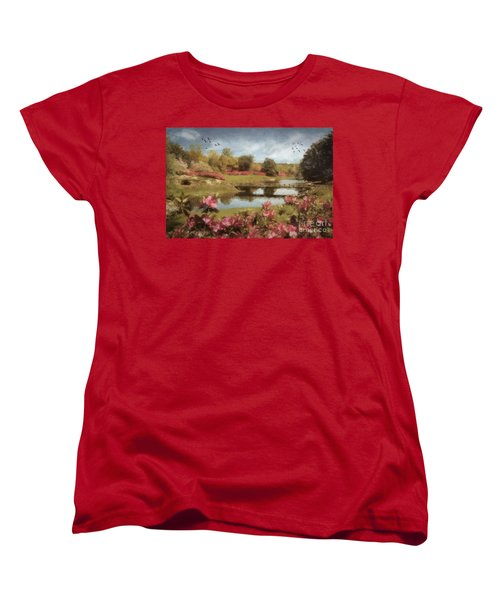 Women's T-Shirt (Standard Cut) featuring the digital art Bellingrath Gardens by Lianne Schneider