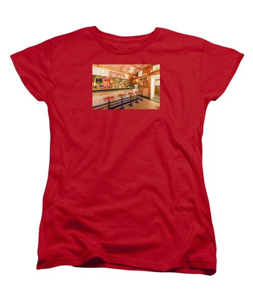 Women's T-Shirt (Standard Cut) featuring the photograph Bellows Falls Diner by Tom Singleton