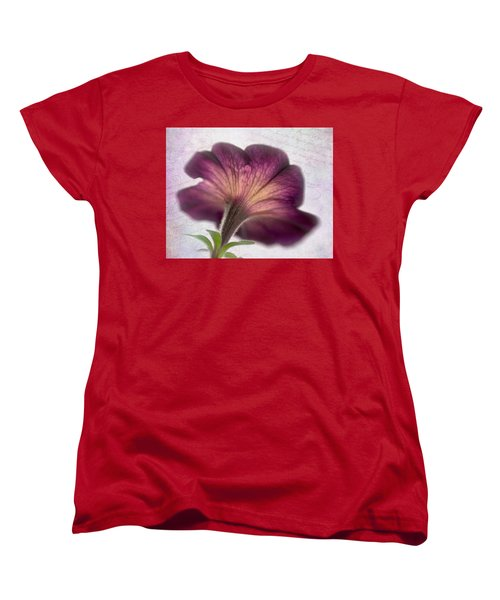 Women's T-Shirt (Standard Cut) featuring the photograph Beneath A Dreamy Petunia by David and Carol Kelly