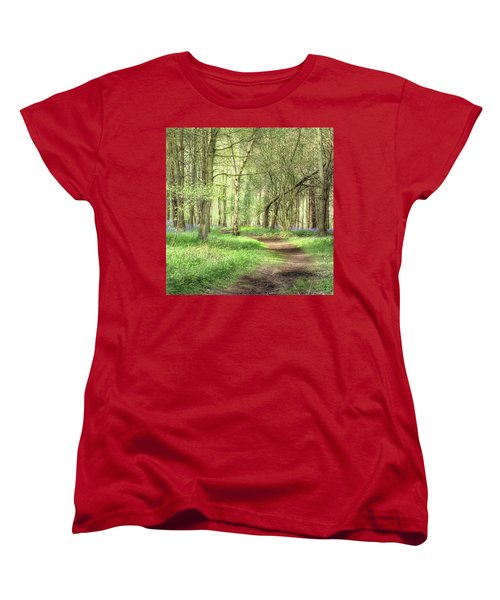 Bentley Woods, Warwickshire #landscape Women's T-Shirt (Standard Cut) by John Edwards