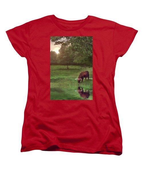 Beside Still Waters Women's T-Shirt (Standard Cut) by Mark Fuller