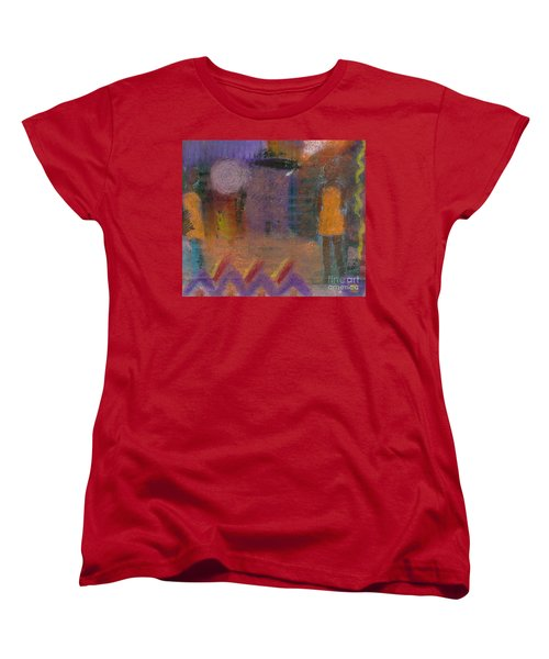 Women's T-Shirt (Standard Cut) featuring the painting Best Friends by Angela L Walker