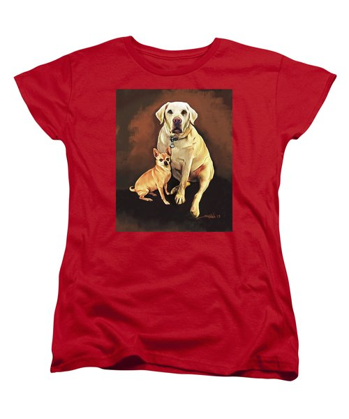 Best Friends By Spano Women's T-Shirt (Standard Cut) by Michael Spano