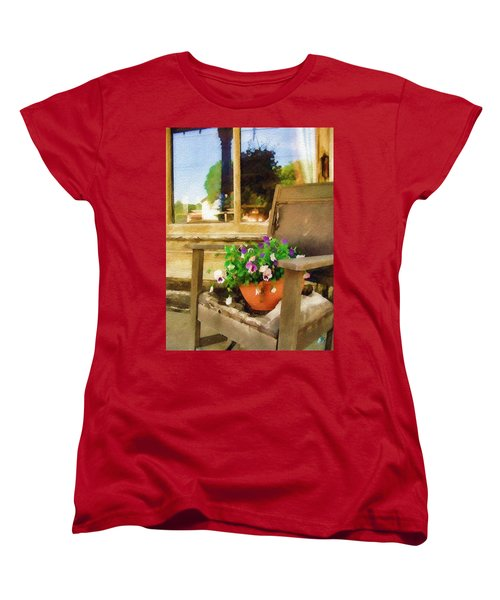 Women's T-Shirt (Standard Cut) featuring the photograph Best Seat In The House by Sandy MacGowan