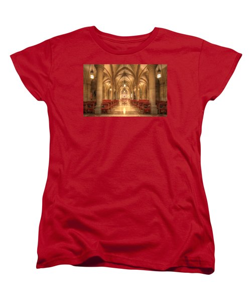 Bethlehem Chapel Washington National Cathedral Women's T-Shirt (Standard Cut) by Shelley Neff
