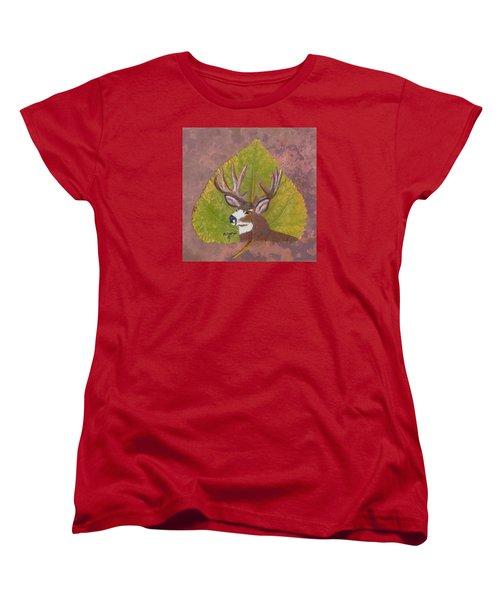Big Mule Deer Buck Women's T-Shirt (Standard Cut) by Ralph Root