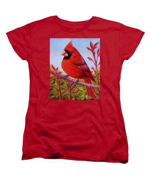 Women's T-Shirt (Standard Cut) featuring the painting Big Red by Gene Gregory