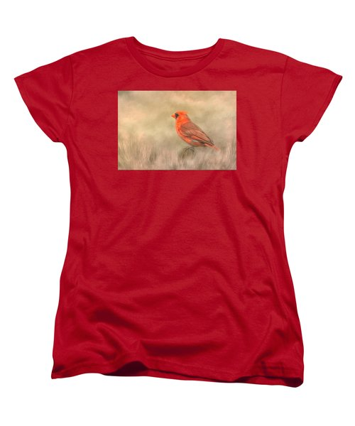 Women's T-Shirt (Standard Cut) featuring the mixed media Big Red by Steven Richardson