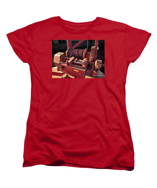 Women's T-Shirt (Standard Cut) featuring the photograph Big Red Winch by Stephen Mitchell