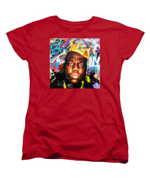 Women's T-Shirt (Standard Cut) featuring the painting Biggy Smalls IIi by Richard Day