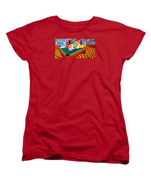 Billiard Table Women's T-Shirt (Standard Cut) by Cyril Maza