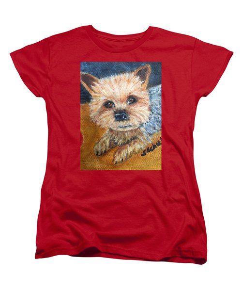 Women's T-Shirt (Standard Cut) featuring the painting Billy by Sharon Schultz