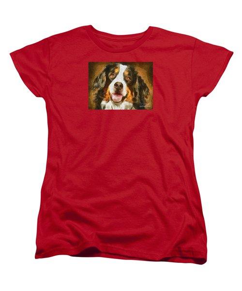 Bimbo - Bernese Mountain Dog Women's T-Shirt (Standard Cut) by Dragica  Micki Fortuna