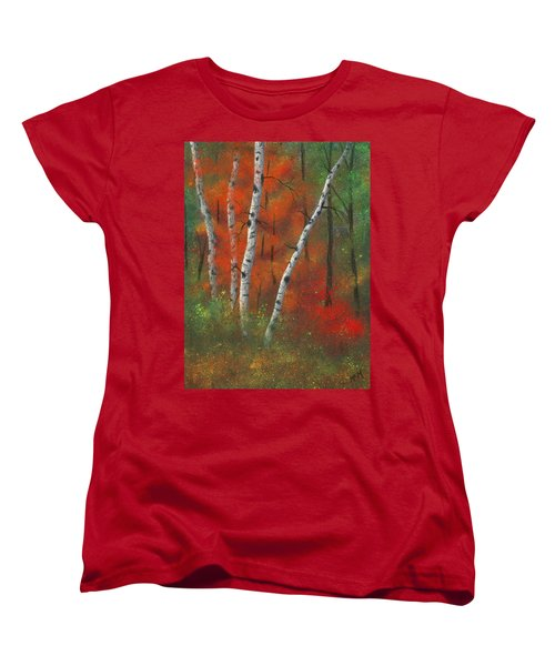 Birches II Women's T-Shirt (Standard Cut) by Garry McMichael