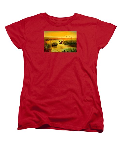 Bird Water Women's T-Shirt (Standard Cut) by Henryk Gorecki