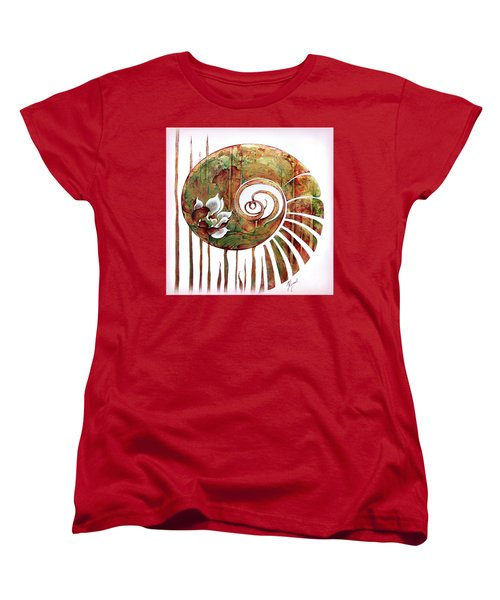 Birth Of Lotus Land Women's T-Shirt (Standard Cut) by Anna Ewa Miarczynska