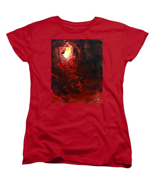 Women's T-Shirt (Standard Cut) featuring the painting Birth by Sheila Mcdonald