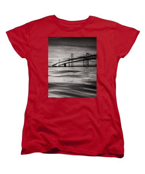 Women's T-Shirt (Standard Cut) featuring the photograph Black And White Reflections 2 by Jennifer Casey