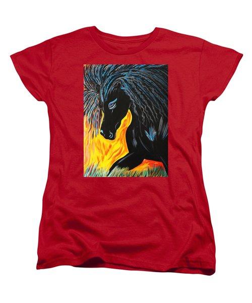 Black Beauty Women's T-Shirt (Standard Cut) by Nora Shepley