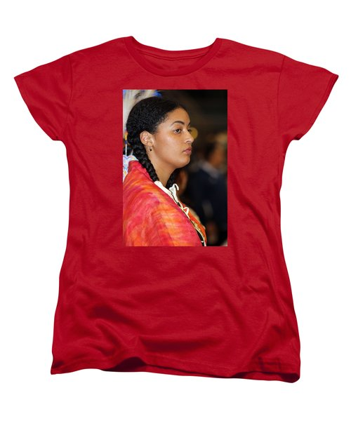 Black Native Women's T-Shirt (Standard Cut) by Audrey Robillard