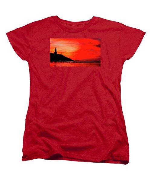 Black Sea Turned Red Women's T-Shirt (Standard Cut) by Reksik004