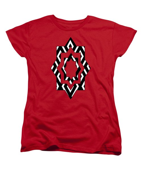 Black And White Pattern Women's T-Shirt (Standard Cut) by Christina Rollo