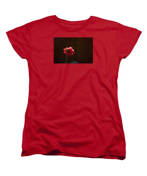 Women's T-Shirt (Standard Cut) featuring the photograph Black With Rose by Lora Lee Chapman