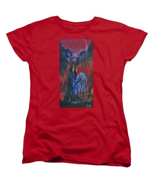 Blackberry Thorn Psychosis Women's T-Shirt (Standard Cut) by Christophe Ennis