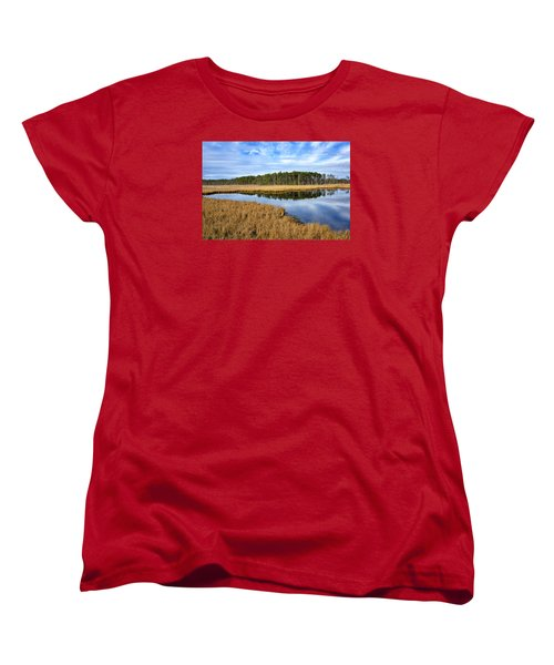 Blackwater National Wildlife Refuge In Maryland Women's T-Shirt (Standard Cut) by Brendan Reals