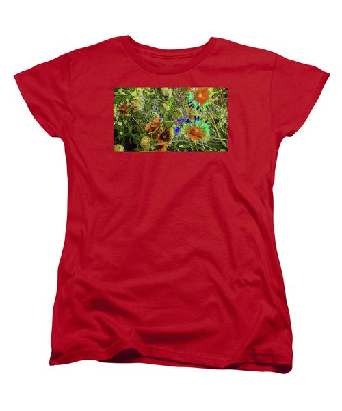 Blanket Flower II Women's T-Shirt (Standard Cut) by Donna G Smith