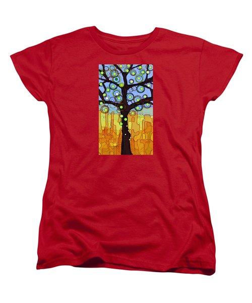 Blue And Gold Women's T-Shirt (Standard Cut)