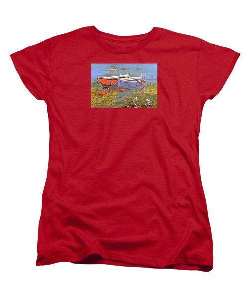 Blue And Orange Women's T-Shirt (Standard Cut) by Bill Holkham