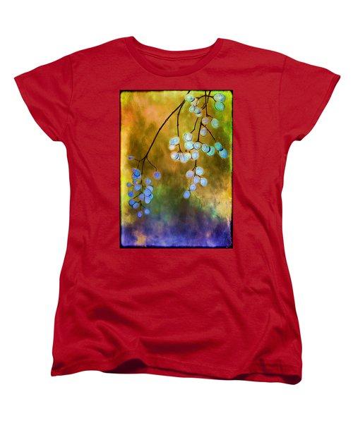 Blue Autumn Berries Women's T-Shirt (Standard Cut) by Judi Bagwell