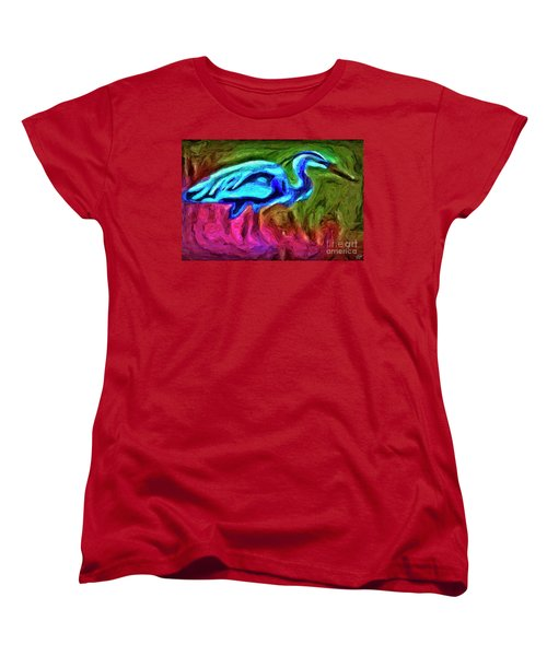Women's T-Shirt (Standard Cut) featuring the photograph Blue Heron by Walt Foegelle