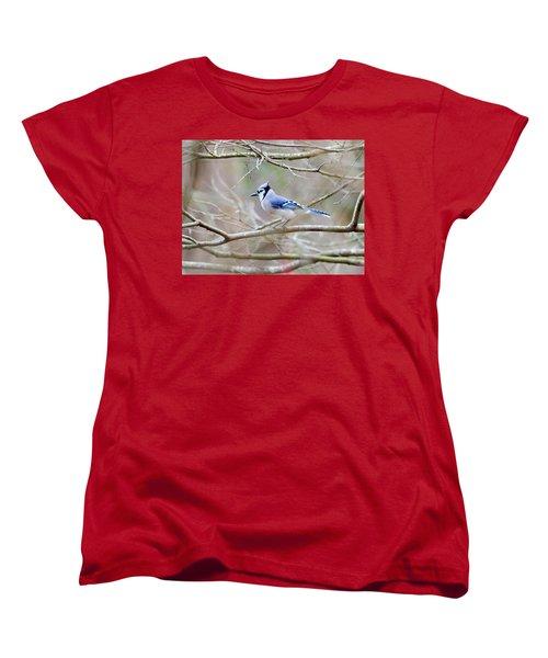Women's T-Shirt (Standard Cut) featuring the photograph Blue Jay by George Randy Bass