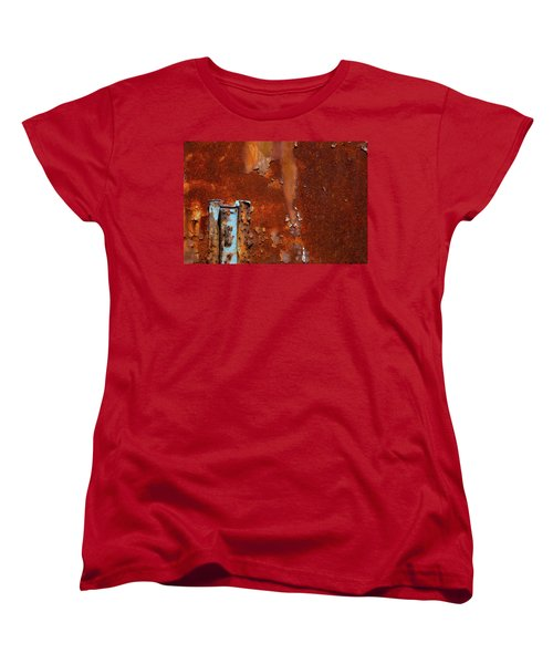 Women's T-Shirt (Standard Cut) featuring the photograph Blue On Rust by Karol Livote