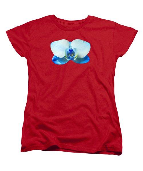 Blue Orchid 1 Women's T-Shirt (Standard Cut) by Scott Carruthers