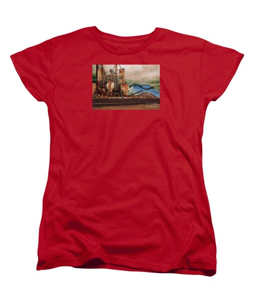 Women's T-Shirt (Standard Cut) featuring the digital art Blue Salt by David Blank