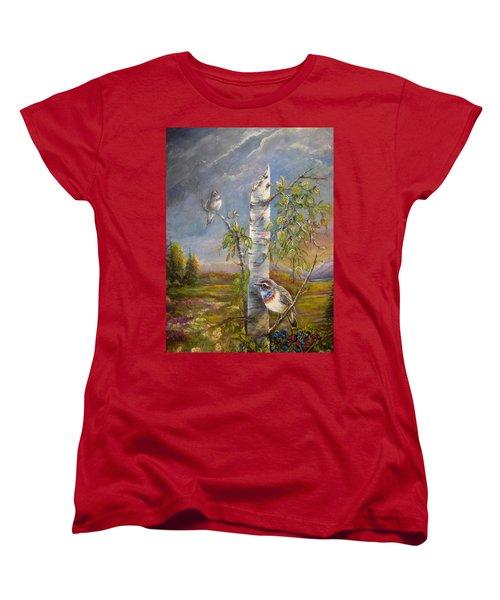 Bluethroat On The Tundra Women's T-Shirt (Standard Cut)