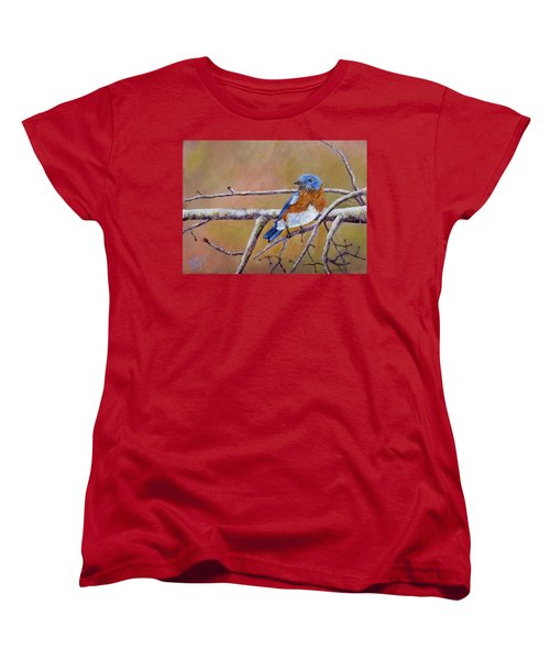 Women's T-Shirt (Standard Cut) featuring the painting Bluey by Dan Wagner
