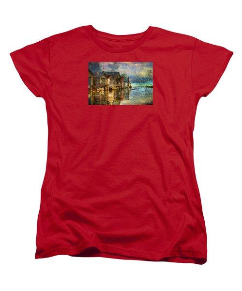 Boat Houses Women's T-Shirt (Standard Cut) by Jim  Hatch
